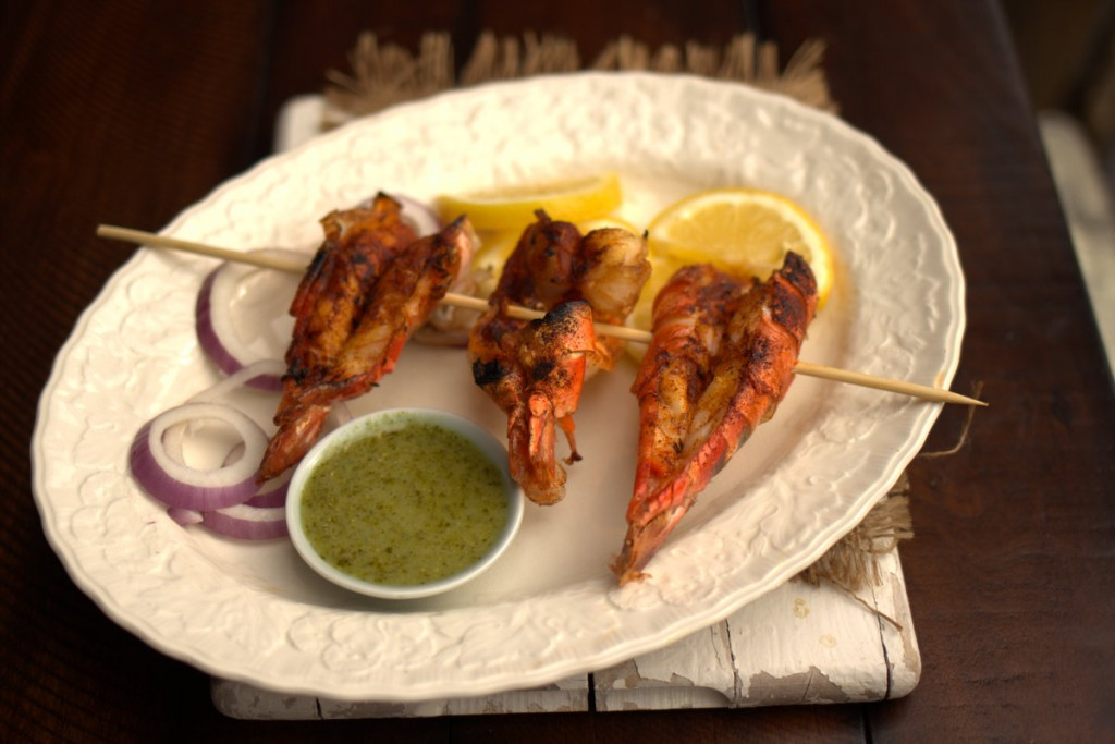 TANDOORI GRILLED SHRIMP WITH GREEN CURRY DIPPING SAUCE | Keto-Adapted